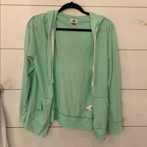 Mint Green Zip Up Sweater